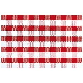 Novastyl 2211060 Lot de 12 Sets de Table Autrefois Plastique Rouge 45 x 30 x 0,5 cm