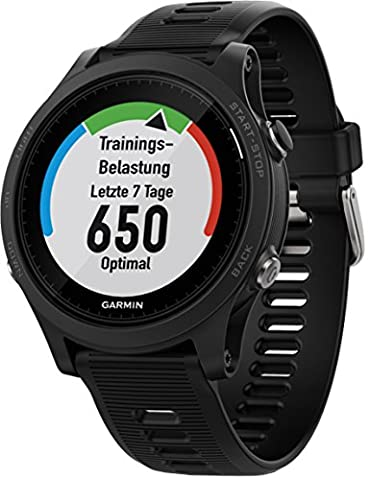 Garmin Forerunner 935 Bluetooth Black Sport Watch – Sport Uhr (Black, Polymer, Water Resistant, Silikon, Glass, 5 ATM)