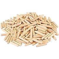 Silverline 868727 - Espigas de madera, 200 pzas (8 x 40 mm)