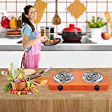 ORBON Double 1250 + 1250 Watt Induction Cooktop|Coil Cooking Stove