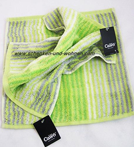 Waschtuch Noblesse Cashmere Streifen, Kiwi ca. 30 x 30 cm Cashmere Kiwi