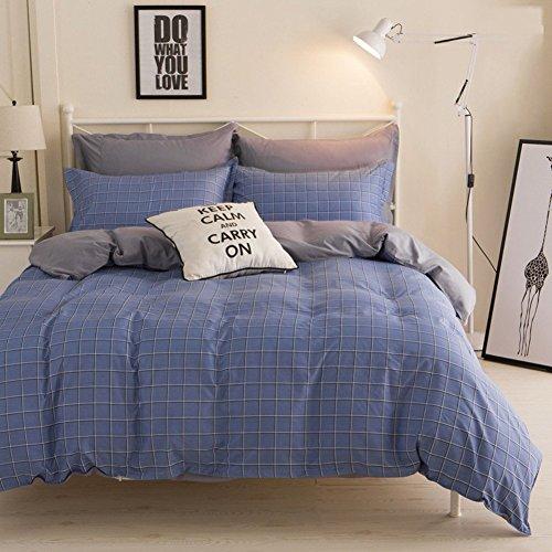 DACHUI Bettwäsche Sammlungen 4 pcs 2 Kopfkissenbezug Bettwäsche Bettbezüge Einzelzimmer Doppelzimmer King Size super boy-F Twinch 2 (Satin-glatt Aloe)