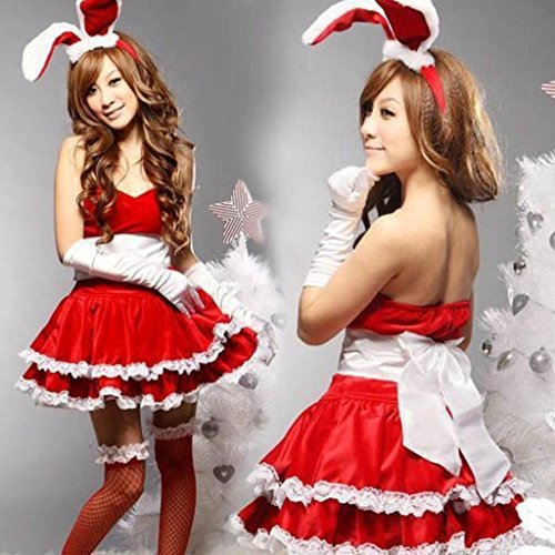 MFFACAI Frauen Santa Sexy Weihnachten Weihnachten Fräulein Damen Mrs Bunny mädchen Claus Nette Festliche Kostüm - Mrs Santa Kostüm