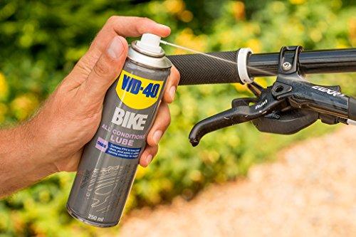 WD 40Bike chaîne spray toutes saisons 250ml, transparent, 49703