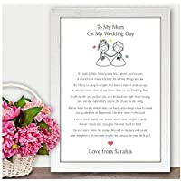Personalised Mother of the Bride Thank you Gift Keepsake - Mum Mummy Step Mum Wedding Memories Gift - Thank You Presents for Mother of the Bride - A5, A4, A3 Prints and Frames - 18mm Wooden Blocks - FREE Personalisation