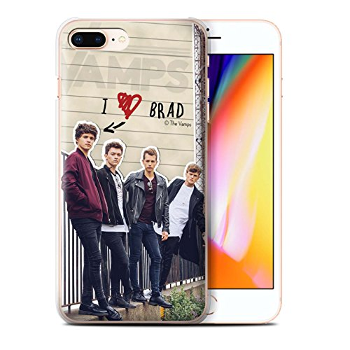 Officiel The Vamps Coque / Etui pour Apple iPhone 8 Plus / James Design / The Vamps Journal Secret Collection Brad