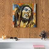Bob Marley MDF Wall art 30x30 Centimeter