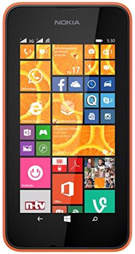 Nokia Lumia 530 Smartphone inkl. Hülle (10,2 cm (4 Zoll), Dual-SIM, 1,2GHz Snapdragon Quad-Core Prozessor, 512MB RAM, 5 Megapixel Kamera, Bluetooth, USB 2.0, Win 8) orange