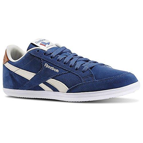 Reebok Royal Transport, Chaussures de Sport Homme Multicolore - Azul / Blanco / Marrón (Batik Blue / Paper White / Brown Malt)