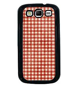 Fuson Red Checks Pattern Designer Back Case Cover for Samsung Galaxy S3 Neo I9300I :: Samsung I9300I Galaxy S3 Neo :: Samsung Galaxy S Iii Neo+ I9300I :: Samsung Galaxy S3 Neo Plus (Ethnic Pattern Patterns Floral Decorative Abstact Love Lovely Beauty)