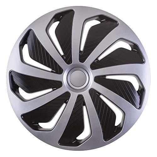 CM DESIGN Wind Silber Schwarz - 14 Zoll, passend für Fast alle Mazda z.B. für MPV 2.Generation