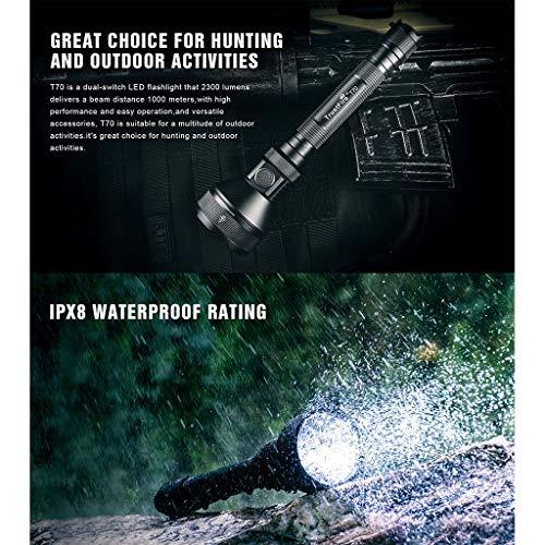Basis Reflektor Flutlicht (LCLrute Superhelle LED Taschenlampe,100m LED Tauchen Taschenlampe Scuba-Licht-Lampe Wasserdicht,Geeignet für Haushalt, Camping, Angeln, Notfall, Stromausfall, Outdoor)