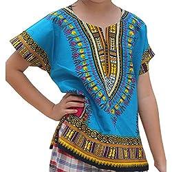 Camiseta de Estilo étnico Africano para 2-7 bebé niños Unisex, Camiseta Manga Corto Bebes niños niñas Camisa Tops t-Shirt A 2-3 años