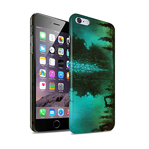 Offiziell Chris Cold Hülle / Glanz Snap-On Case für Apple iPhone 6+/Plus 5.5 / Pack 12pcs Muster / Fremden Welt Kosmos Kollektion Alien Landschaft