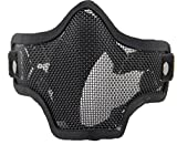 WorldShopping4U respirante Tactical Paintball Métal Mesh militaire Squelette Demi...