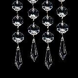 XCSOURCE® Guirnalda con Colgantes de Cristal Acrílico, 30 Unidades para Cortina Decorativa Nupcial y de Fiesta