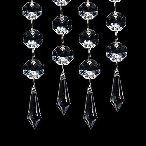 XCSOURCE® Guirnalda con Colgantes de Cristal Acrílico, 30 Unidades p