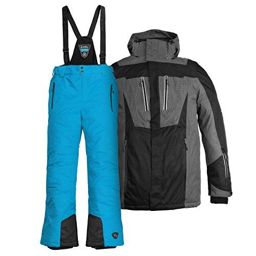 Killtec Herren Skianzug Farb- und Größenwahl (schwarz/Aqua, XL)