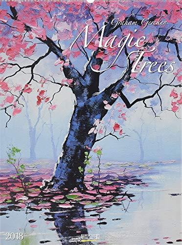 Magic Trees 2018: Großer Kunstkalender. Hochwertiger Wandkalender mit Werken von Bäumen von Graham Gercken. Kunst Gallery Format: 48 x 64 cm, Foliendeckblatt -