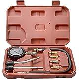 kompressionstester Compresión Comprobador pistón Impresión Comprobador Juego de 9piezas para bezin Motores Incluye maletín