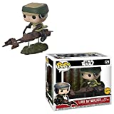 Funko Star Wars Chase Luke Skywalker-Figur auf Speeder Bike Deluxe Pop!Vinyl-Wackelkopf (Luke Skywalker).