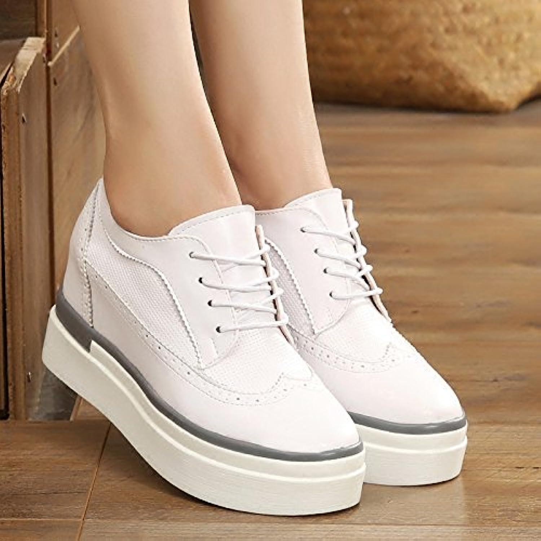 GTVERNH-Más Zapatos De Mujer Música Zapatos Zapatos Blancos Zapatos Casuales Zapatos De Tacon Grueso Talud Inferior... -