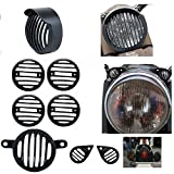 #8: Motoway Rear Customized Head light Heavy Grill With Cap & Indicator, Parking, Tail Light Grill For Royal Enfield Classic 350