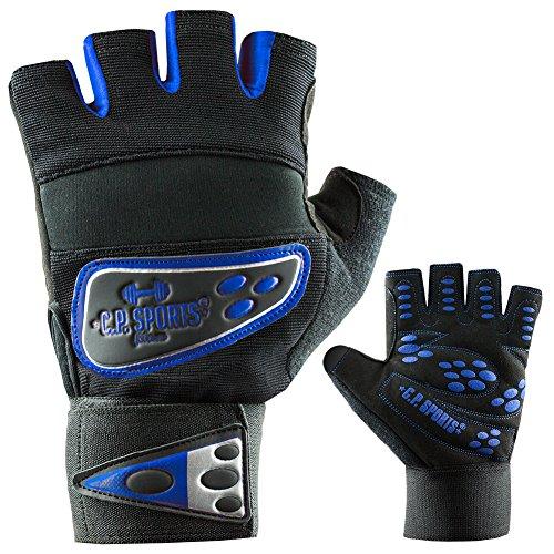 C.P. Sports professionale di grip di bende di guanto di fitness guanti blu