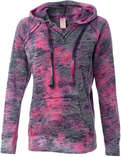 résistant aux intempéries pour femme Courtney Burnout Pull à capuche Mélange Polaire (W1162) Raspberry Swirl
