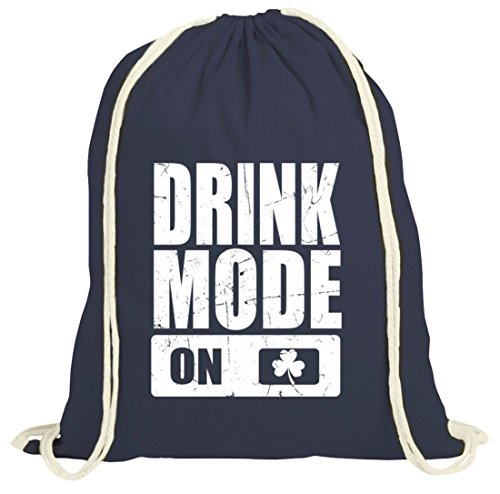 Irland St. Patrick's Day natur Turnbeutel Gym Bag Drink Mode On dunkelblau natur
