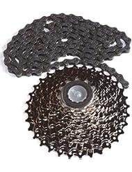 Fahrrad Verschleißset Kette/Kassette 27 Gang Shimano HG53/HG50