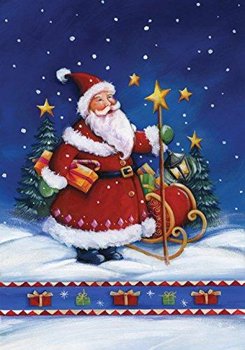 agge Weihnachtsmannnacht, 31,8 x 45,7 cm, dekorativer Winter, Weihnachten, Urlaub, Schlitten, Geschenk, Gartenflagge ()