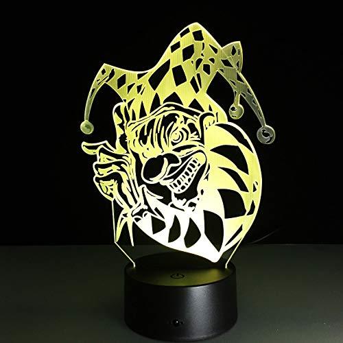 (Halloween Clown 3D Visuelle Led Nachtlichter Für Kinder Touch Usb Tischlampe Baby Schlafen Nachtlicht Modische Romantische Tragbare)