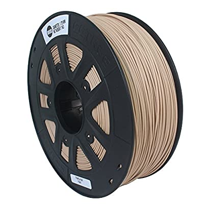 CCTREE 3D Printer Wood Filamental For Creality CR-10S Ender 3,Tevo,3D Printer,1kg Spool (2.2lbs), Natural