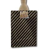 Eposgear - Bolsas de regalo (100 unidades, tamaño pequeño, plástico), color negro y dorado
