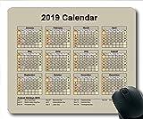 2019 Kalender-Mauspad-Design, Kalender jährlich Gaming-Mauspads, Kalenderplaner 2019 mit Feiertagsdetails