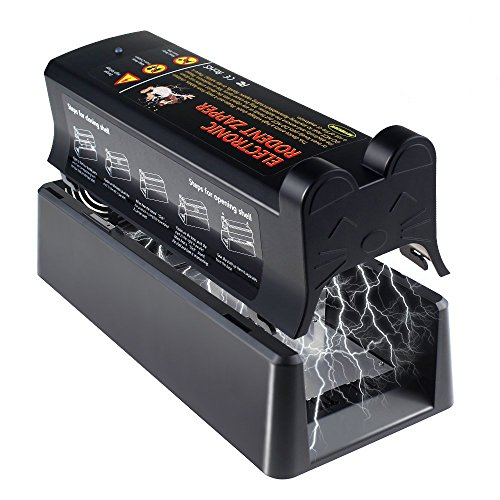 Aken Electronic Rat Trap Eliminate Rats, Mice and Small Squirrels Efficiently and Safely [Upgraded Version]