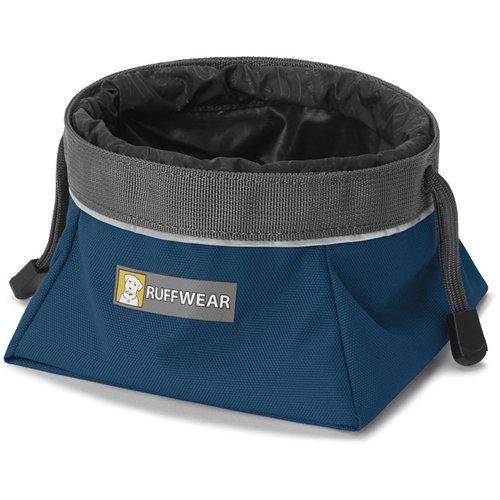 Ruffwear Faltbarer Hundenapf für Reisen, Größe: M, Fassungsvermögen: 1 L, Blau (Blue Moon), Quencher Cinch Top, 20552-460M - Blau Cinch