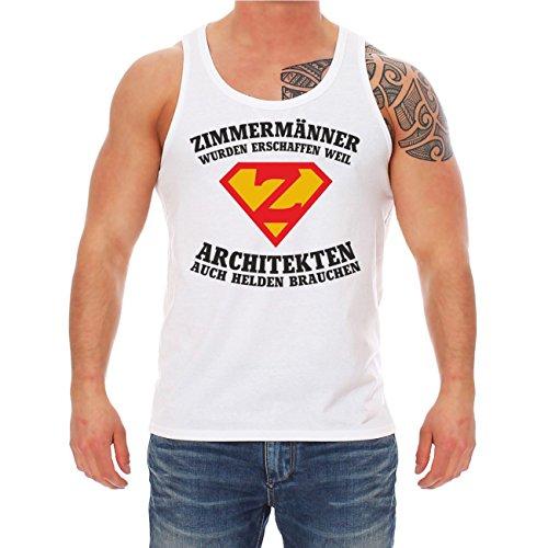 Männer und Herren Trägershirt ZIMMERMÄNNER wurden erschaffen Weiß
