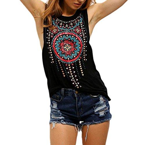 Ouneed® Femme Attrape Reve Débardeurs T-shirt Ete Blouse (S)