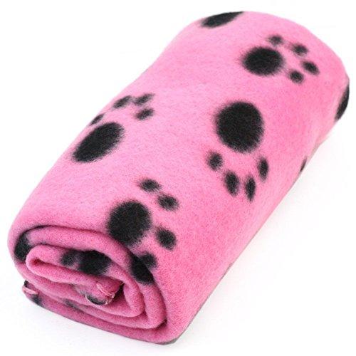 BeatlGem Haustier Hund Katze Welpen Kätzchen Weiche Decke Doggy Warme Bett Matte Pfotenabdruck Kissen (Pink) (Weichen Bett Kissen)