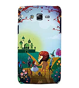 Fuson Premium Back Case Cover Cartoon With grey Background Degined For Samsung Galaxy Grand Neo Plus::Samsung Galaxy Grand Neo Plus i9060i