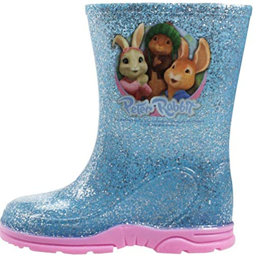 Girls Peter Rabbit Sparkle Glitter Wellingtons UK Sizes 5-10 Infant