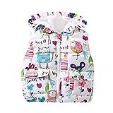 Babykleidung,Sannysis Kinder Baby Mädchen Kapuzenjacken Baby Zipper Kleinkind Warm Weste Kleider Mantel 0.5-4Jahre (90, Weiß)