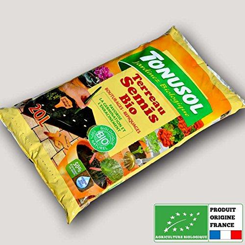 Tonusol - Terreau biologique spécial semis. Tonusol 20 litres