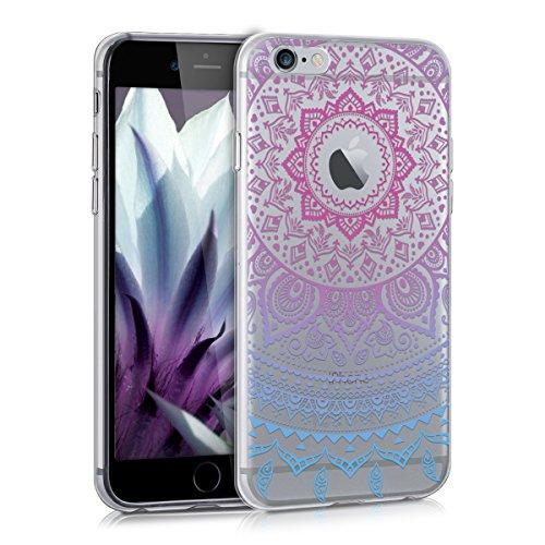 e 6 / 6S Hülle - Handyhülle für Apple iPhone 6 / 6S - Handy Case in Blau Pink Transparent ()