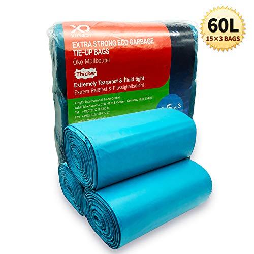 Bolsas de basura ecológicas de 60 litros