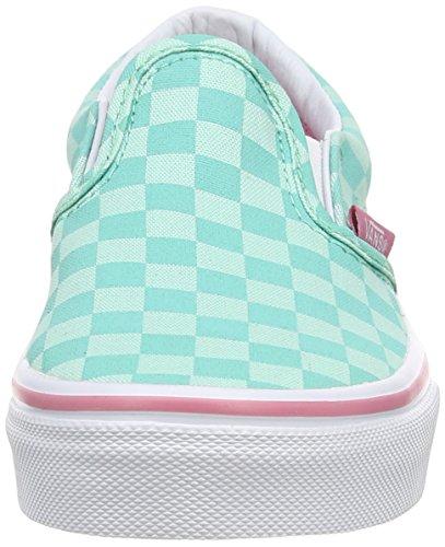 Vans Classic Slip-On, Scarpe da Ginnastica Unisex – Bambini Verde (tonal Checker/florida Keys/wild Rose)