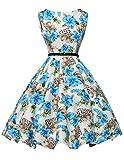 50s retro feierlichkeit kleid damen rockabilly kleid ballklieder knielang petticoat kleid Größe 3XL CL6086-18