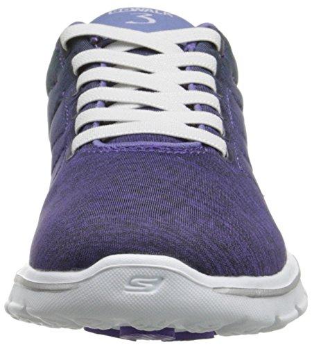 Skechers Go Walk 3Stealth, Baskets Basses Femme Violet - Violett (PRGR)